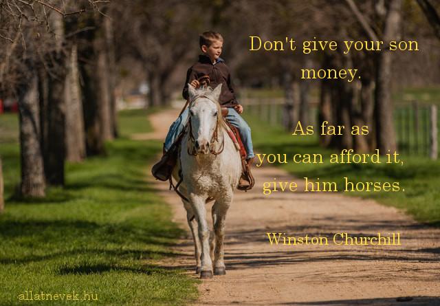 lovas idézet angolul, Churchill